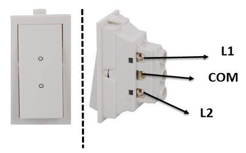 Two Way Switch Front and Back View