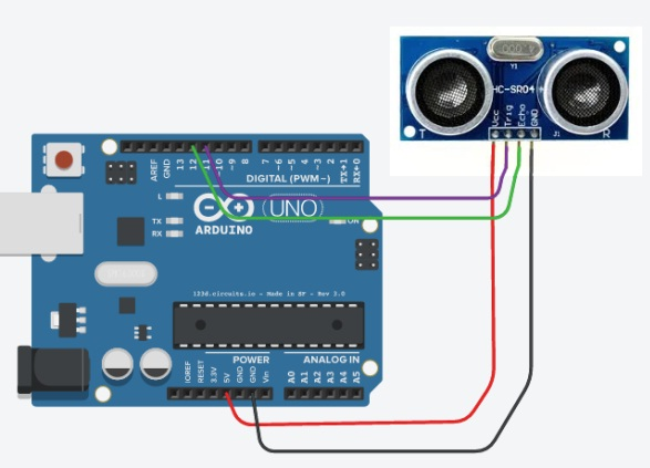ultrasonic-sensor-with-arduino-board